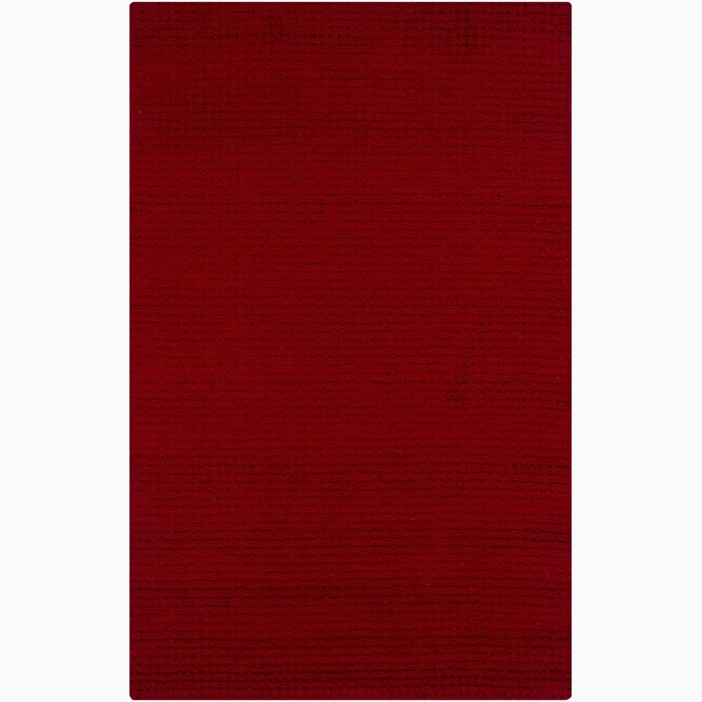 Hand-tufted Mandara Red Rug (4' x 6')