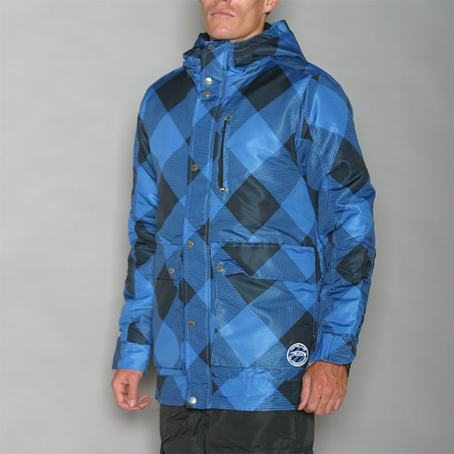 Pipeline Men's Check Line Blue Snowboard Jacket - Thumbnail 0