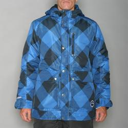 Pipeline Men's Check Line Blue Snowboard Jacket - Thumbnail 1