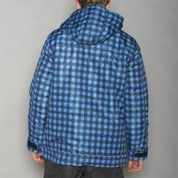 Pipeline Men's Park Check Blue Snowboard Jacket