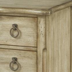 Hand Painted Rustic Sand Finish Accent Chest - Thumbnail 1