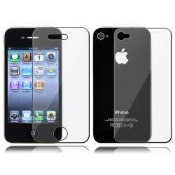 White Rubber Coated Case/ 2-LCD Screen Protector for Apple iPhone 4G - Thumbnail 2