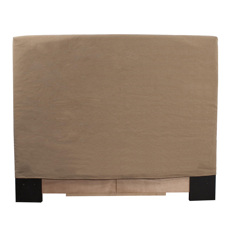 Allan Andrews Full/Queen-size Tan Slipcovered Headboard