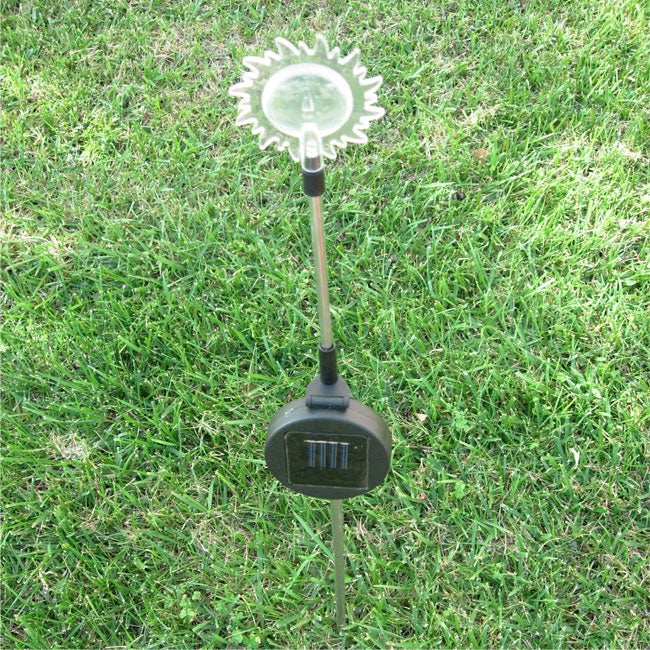 Maximal Power Solar Powered LED Color Changing Sun Face Garden Stake Light