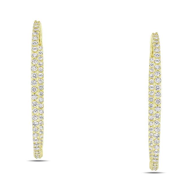 Miadora 14k Yellow Gold 7/8ct TDW Diamond Earrings
