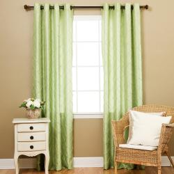 Faux Silk Pintuck 84-inch Curtain Panel Pair - Thumbnail 1
