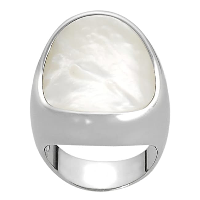 Silvertone Mother of Pearl Ring