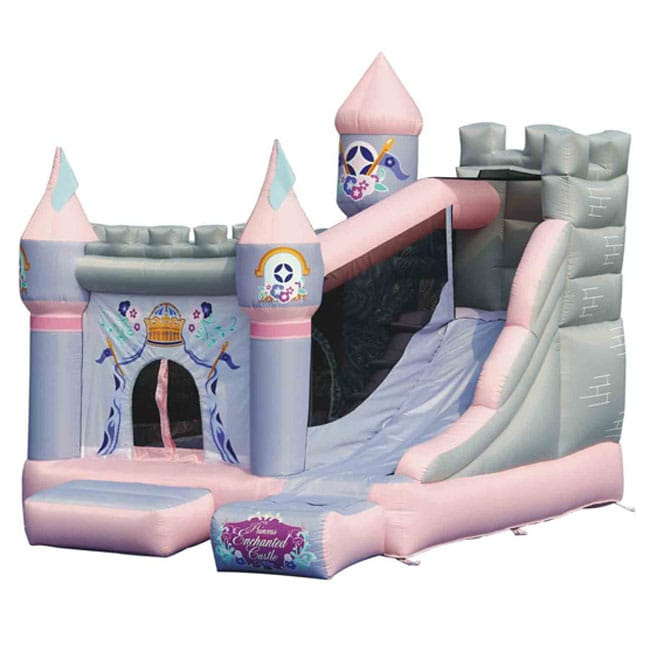 Kidwise Princess Enchanted Castle with Slide Bounce House - Thumbnail 0