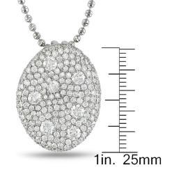 Miadora 18k White Gold 3 7/8ct TDW Diamond Necklace (G-H, SI1-SI2)