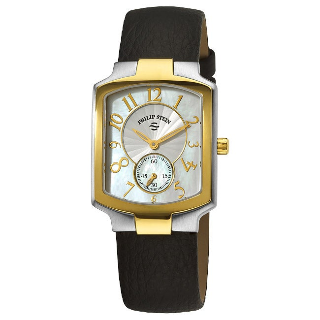 Philip Stein Women's Classic Black Strap Two Tone Watch