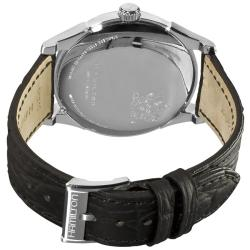 Hamilton Men's Timeless Classic Thin-O-Matic Black Leather Strap Watch - Thumbnail 1