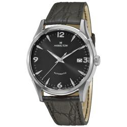 Hamilton Men's Timeless Classic Thin-O-Matic Black Leather Strap Watch - Thumbnail 0