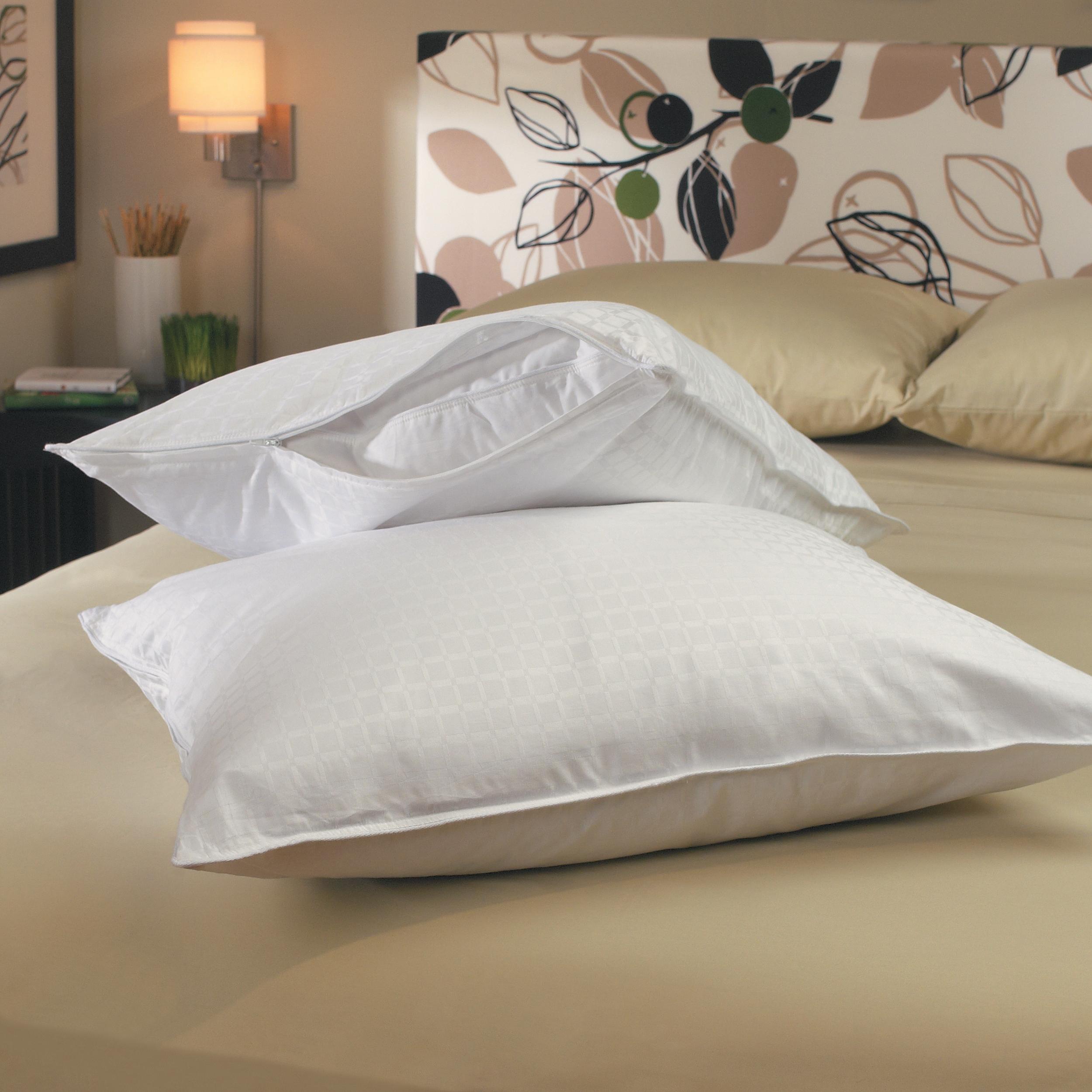 Aristocrat 305 Thread Count Zip Pillow Protectors (Set of 2)