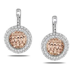 Miadora 18k Two-tone Gold 3/4ct TDW Diamond Dangle Earrings