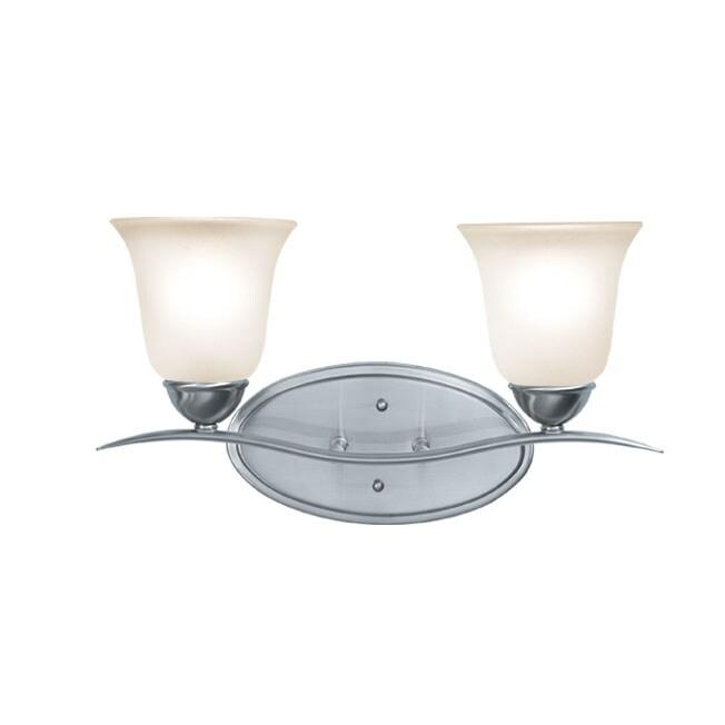 Woodbridge Lighting Beaconsfield 2-light Satin Nickel Bath Bar Sconce