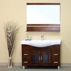 Blansfield Medium Walnut Bathroom Vanity Mirror - Thumbnail 1