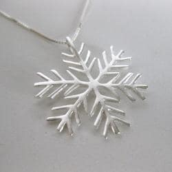 Sterling Silver Snowflake Necklace (Thailand) - Thumbnail 2