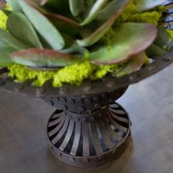 Recycled Iron Planter (India)
