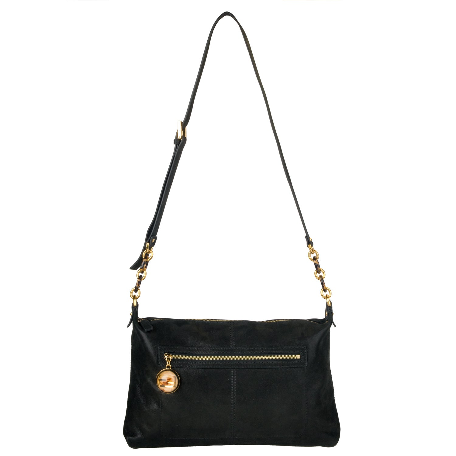 Fendi Women's Black Suede Forever Crossbody Bag
