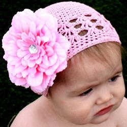 Pink and Cream Kufi 5-piece Hat Set - Thumbnail 2