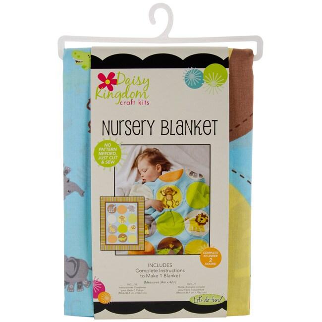 Daisy Kingdom Safari Tots Nursery Blanket Kit