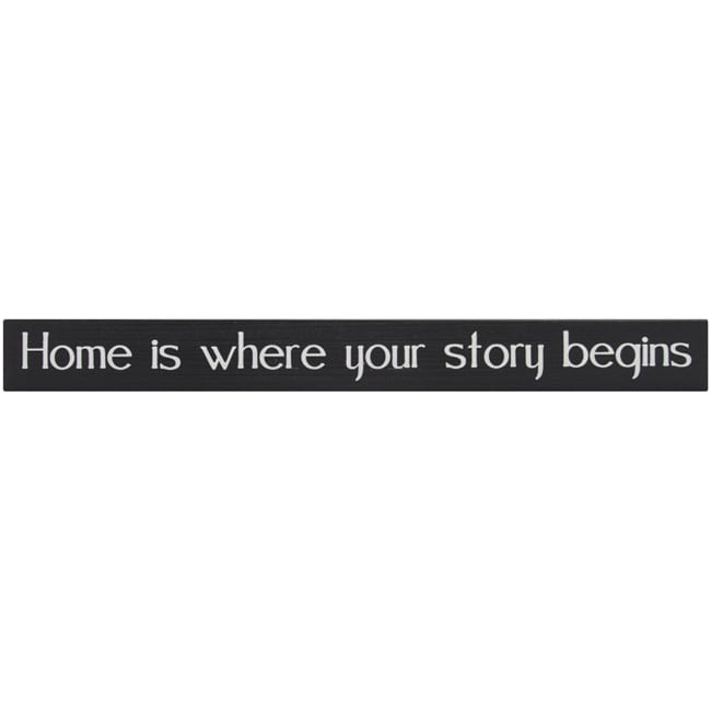 'Home Is Where Your Story Begins' Wood Shelf Sitter