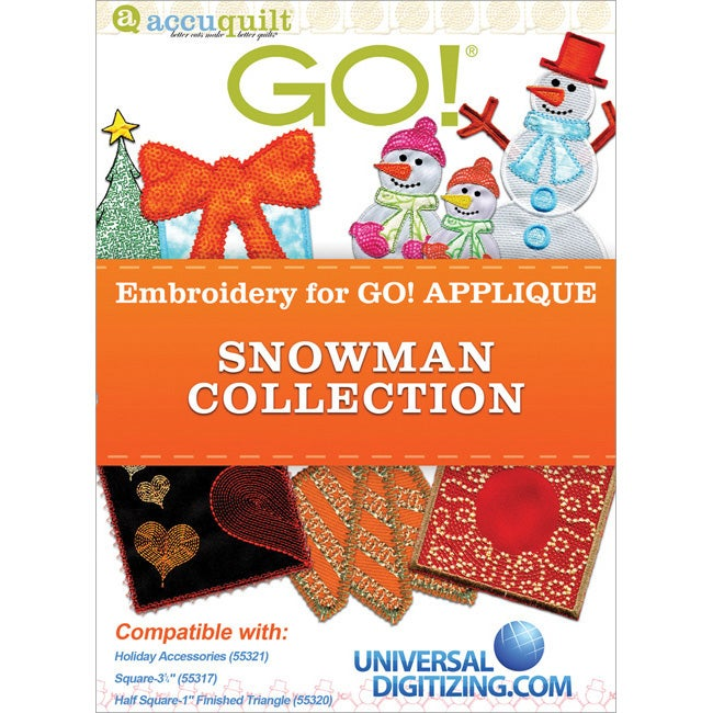Accuquilt GO! Universal Embroidery Snowman Collection