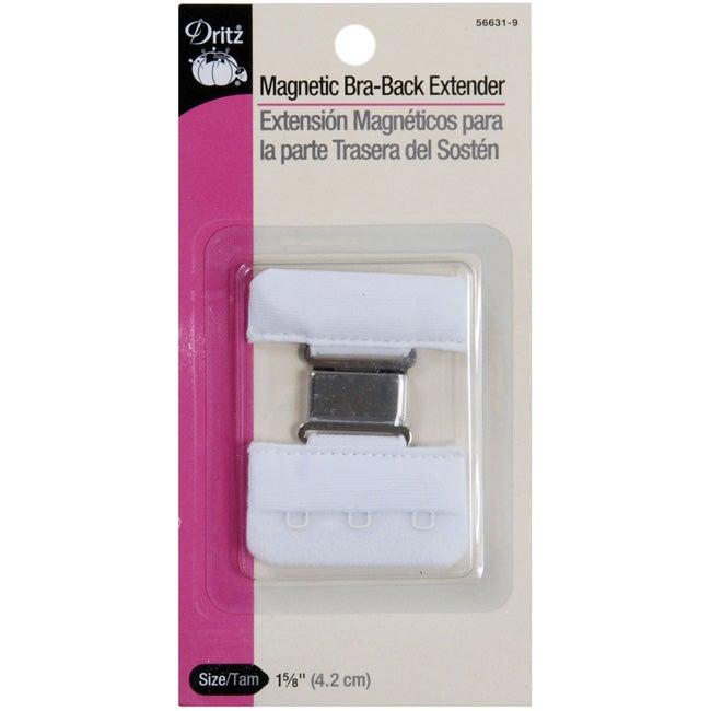 Dritz Magnetic White 1.625-inch Bra-Back Extender (Pack of 3)