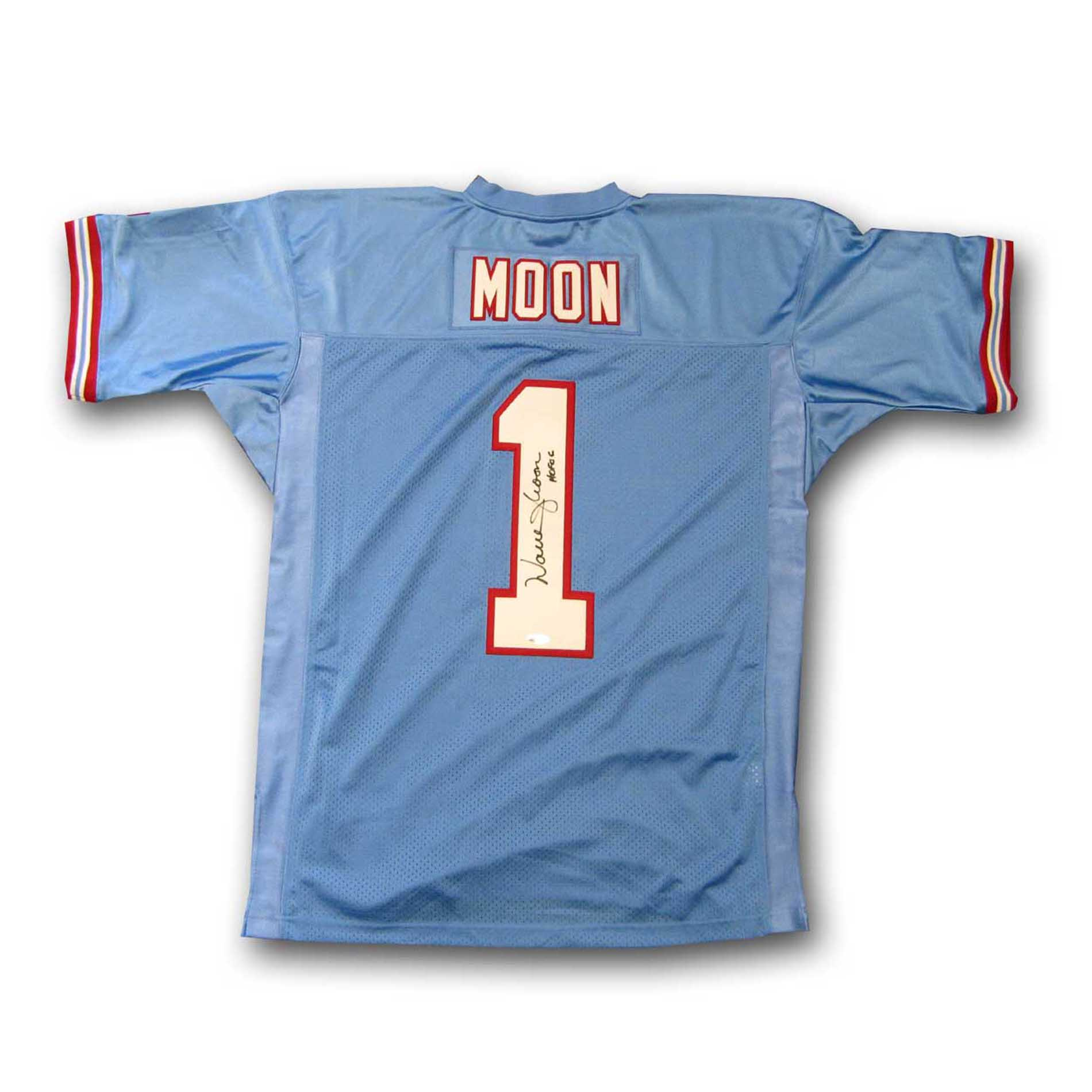 574ba9535c6 Shop Warren Moon Houston Oilers Mitchell and Ness Autographed Jersey ...