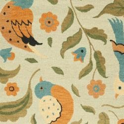 Safavieh Handmade Blossom Swallow Sage Wool Rug (8'9 x 12') - Thumbnail 2