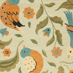 Safavieh Handmade Blossom Swallow Sage Wool Rug (8' x 10')