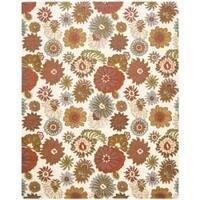 Safavieh Handmade Blossom Ivory Wool Rug - 5' x 8'
