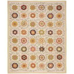 Safavieh Handmade Blossom Ivory Wool Rug - 8' x 10' - Thumbnail 0