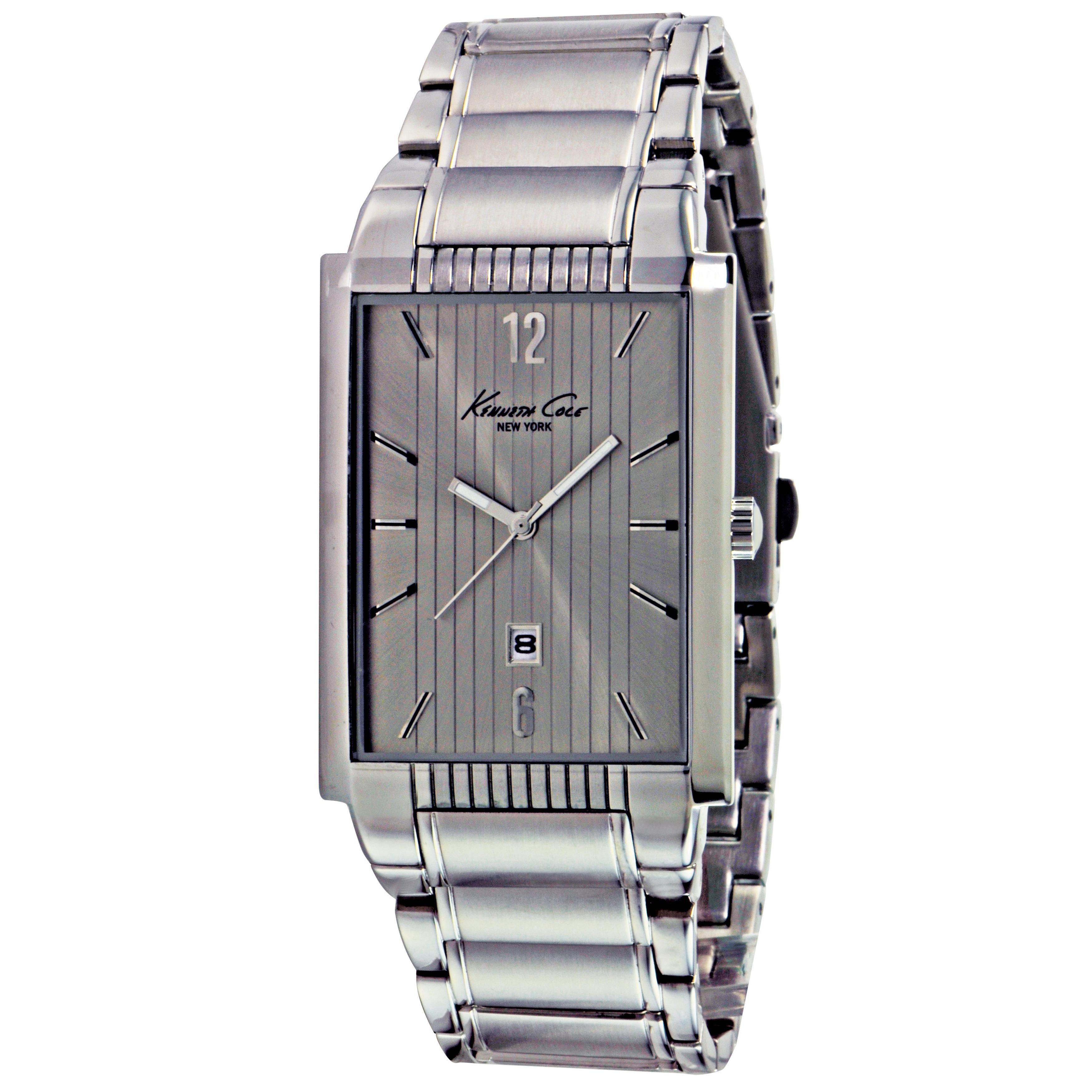 Kenneth Cole New York Men's Rectangular Pinstripe Watch