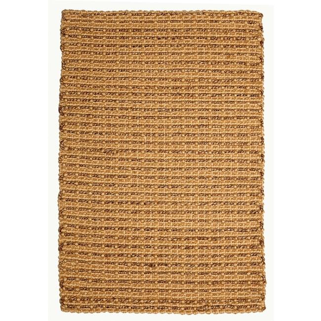 Chennai Natural Tan and Brown Jute and Abaca Rug (5' x 8')