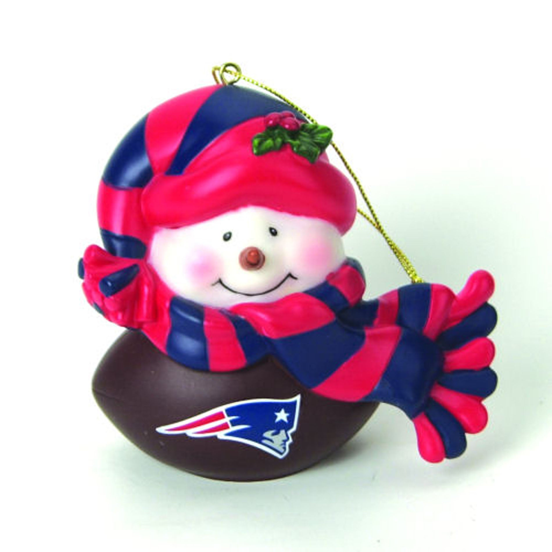 New England Patriots Musical Snowman Ornament