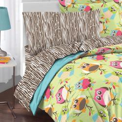 Hoot 5-piece Twin-size Bed in a Bag with Sheet Set