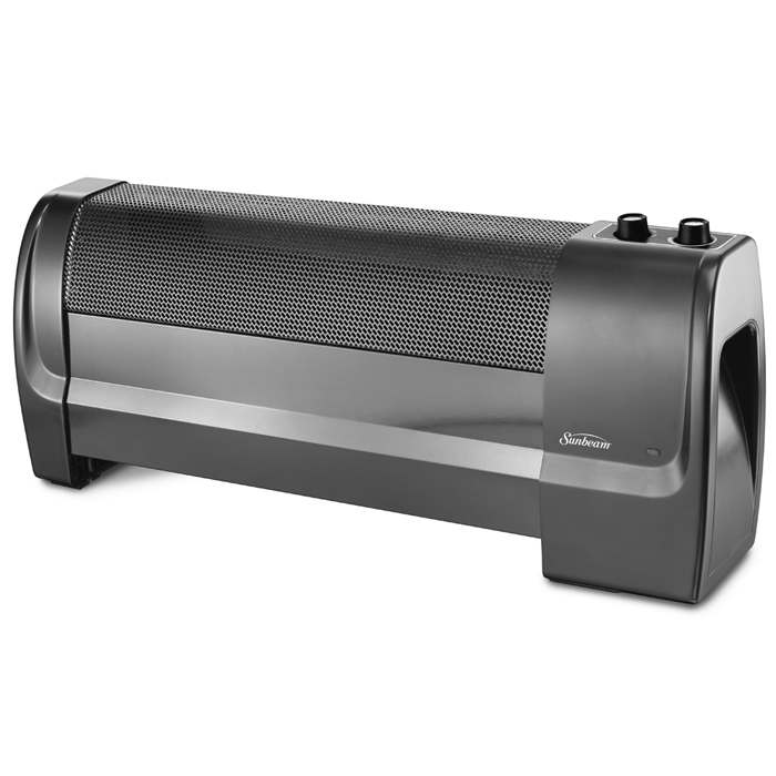 Sunbeam Low Profile Heater With Adjustable Thermostat