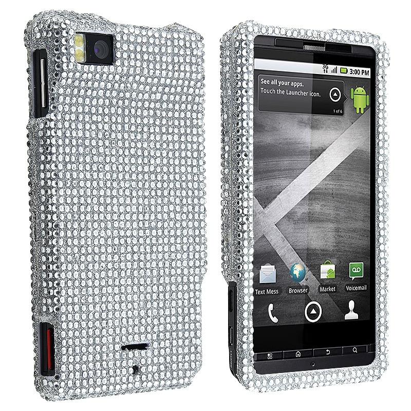 Silver Diamond Protective Case for Motorola Droid X/ MB810