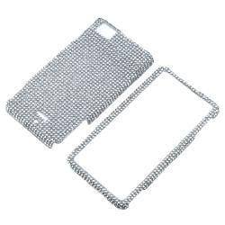 Silver Diamond Protective Case for Motorola Droid X/ MB810 - Thumbnail 1