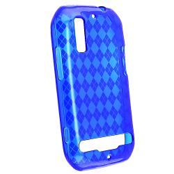 Blue Argyle TPU Rubber Skin Case for Motorola Photon 4G MB855 - Thumbnail 2