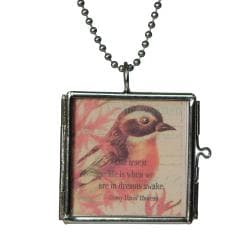 Charming Life Hinged Picture Frame Charm Necklace