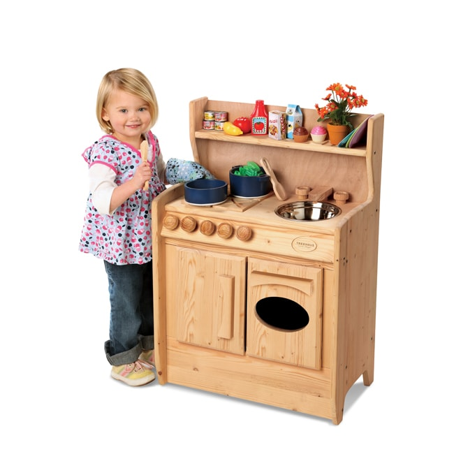 Kids Play Kitchen Wood: TreeHaus Wooden Play Kitchen