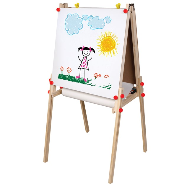 Melissa And Doug Table And Chairs TreeHaus Adjustable Three-in-one Built-in Paper Roll Artist Easel ...