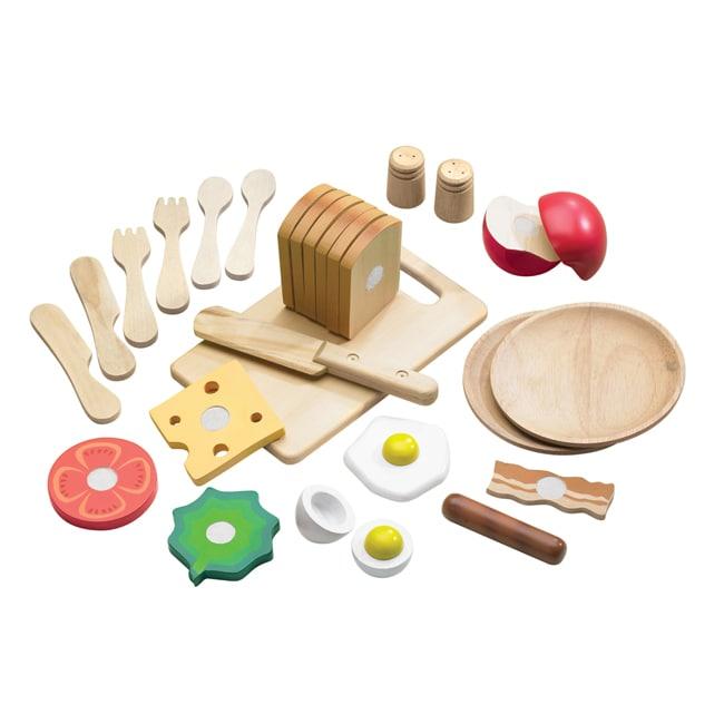 TreeHaus Wooden Playtime Food Set