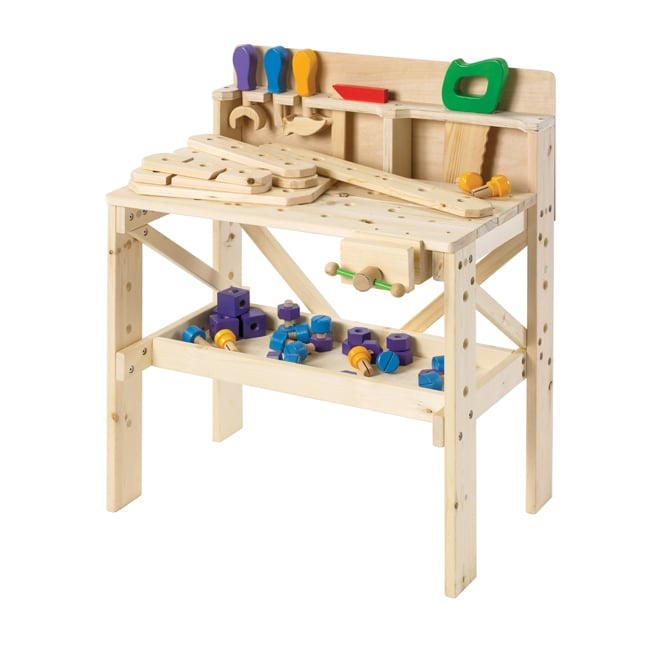 Treehaus Children S Wooden Work Bench With Tools And