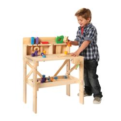 TreeHaus Children's Wooden Work Bench with Tools and Hardware - Thumbnail 2