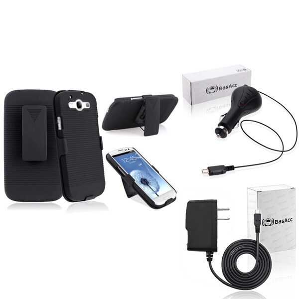 INSTEN Holster/ Travel/ Car Charger for Samsung Galaxy S III/ S3