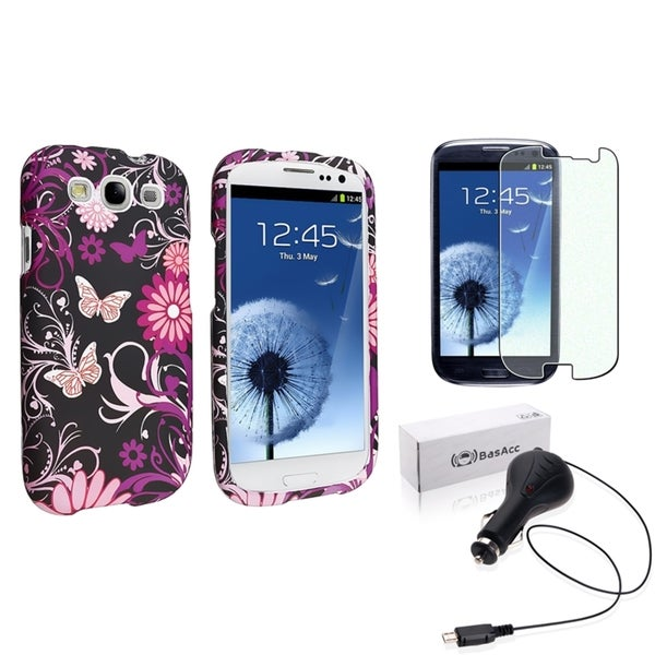 INSTEN Phone Case Cover/ Charger/ Protector for Samsung Galaxy S III/ S3