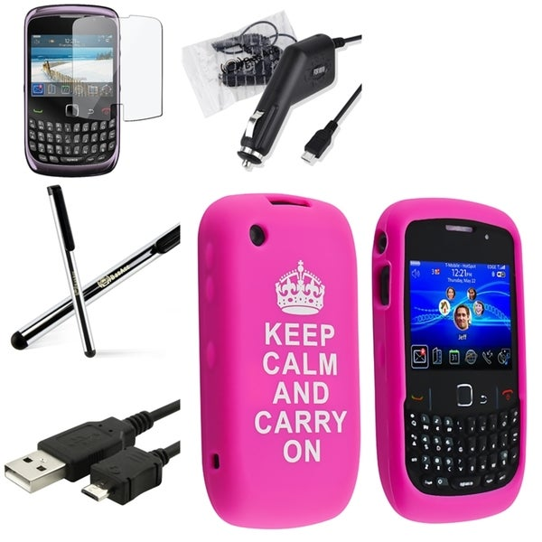 BasAcc Case/ Screen Protector/ Charger for BlackBerry Curve 9300